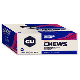 GU Energy Chews Box 18x54g, Blueberry-Pomegranate
